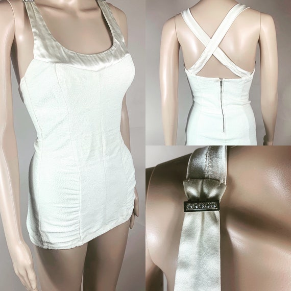 Vintage 1940s White One Piece by Nanina