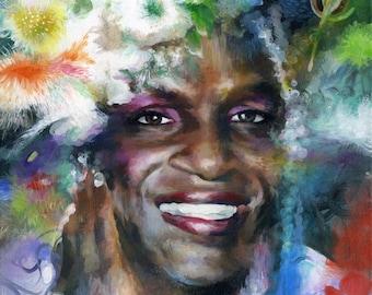 Canvas Print / Trans Pioneer Marsha P. Johnson Pancake Portrait