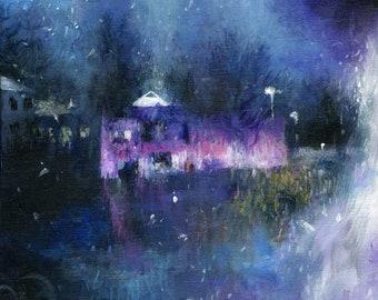 Larger Canvas Print / Paisley Park Landscape Isolated