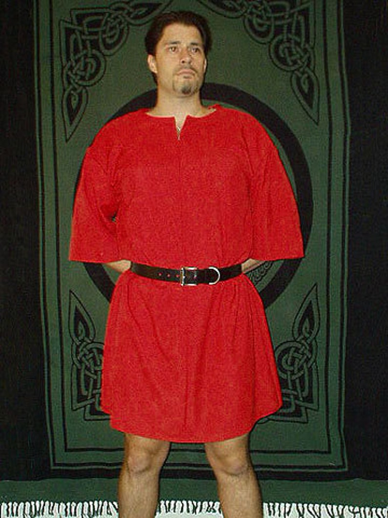 Handmade Mens Roman Linen Tunic / Shirt in Your Color and Size image 0
