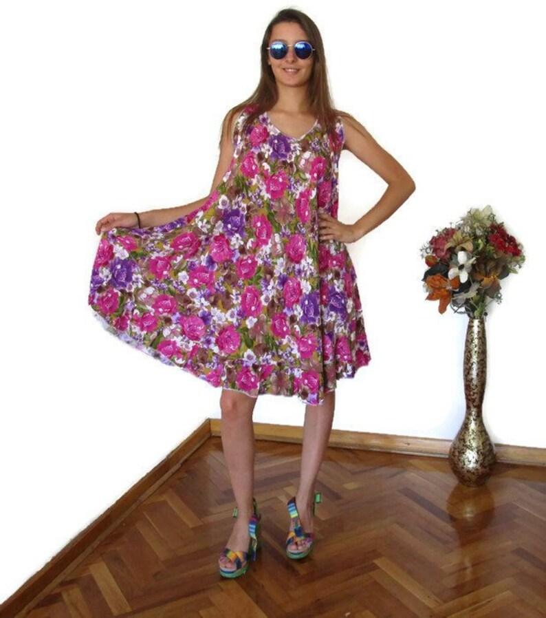 c97c33bb51c1 Flower Dress Summer Dresses for Women M XL Loose Maternity