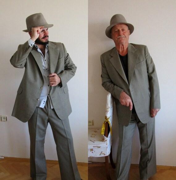 Vintage Men's Suit, Brownish wool suit, Vintage He