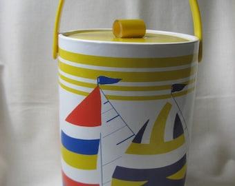 Vintage Sailboat Ice Bucket