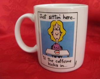 Vintage Caffeine Coffee Mug
