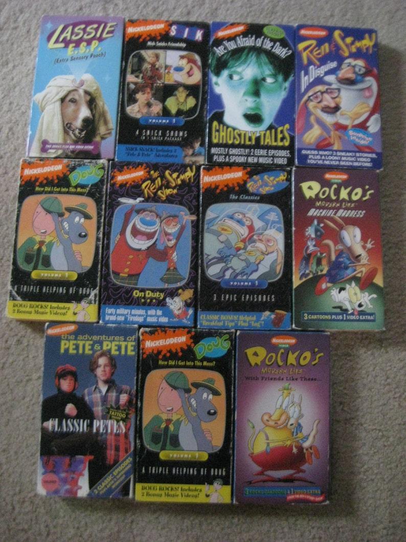 Vintage Nickelodeon VHS Tape YOU CHOOSE