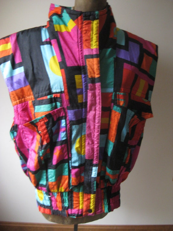 Vintage COLORFUL Andy Johns Vest