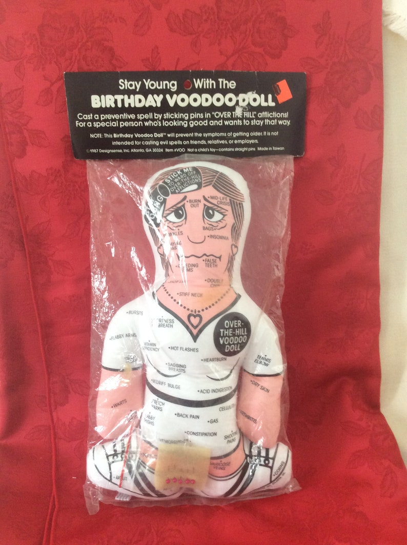 Vintage Birthday Voodoo Doll