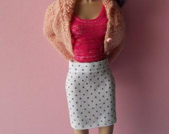 Handmade skirt for Momoko, Barbie, Poppy Parker, Pullip (not suitable for Fashion Royalty)