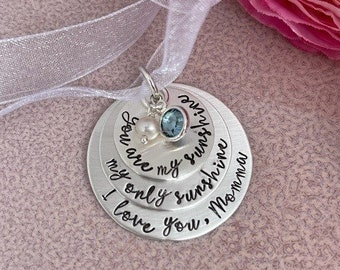 Personalized Bouquet Charm - You are my Sunshine My Only Sunshine - Bridal Bouquet Charm Wedding Bouquet - Something Blue & Pearl