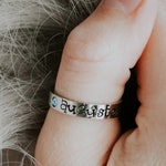 Personalized Birthstone Ring // Gift for Mom