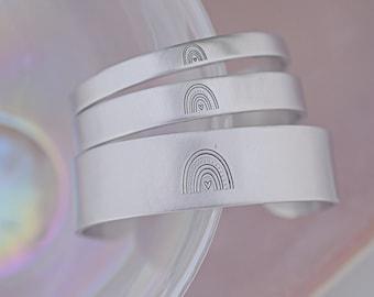 Hand Stamped Rainbow Bracelet - Boho Rainbow Bracelet - Hand Stamped Jewelry - Rainbow Cuff Bracelet - Boho Jewelry - Boho Bracelet