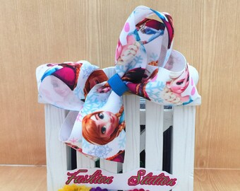 4 inch   Frozn Cute bow for babies, toddlers and big girls ~