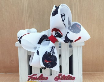 4 inch  Houston Texans Cute bow for babies, toddlers and big girls ~
