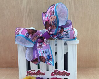4 inch  Doc Mcstuffins Cute bow for babies, toddlers and big girls ~
