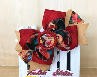 Elena of Avalor Cute bow for babies, toddlers and big girls ~ Bow measures approximately 5.5 inches