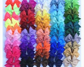 Set of 6, 12 ,24 pcs 3 inch pinwheels Bows, teen hair bows, back to school, Boutique bows, Pig Tail Bows,  Wholesale ,50 colors to choose