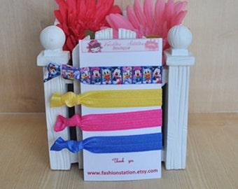 CLEARANCE~~~~Disney Elastic Hair Ties~~~ Birthday Favors~~~Baby Shower~~~Hair Tie Bracelet