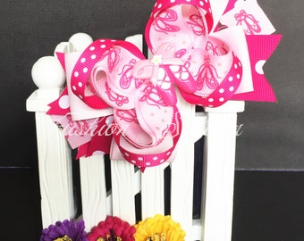 Ballet dance Cute bow for babies, toddlers and big girls ~ Bow measures approximately 5.5 inches