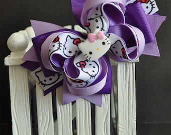Hello Kitty Hair Bow ~ Cute bow for babies, toddlers and big girls ~ Bow measures approximately 5.5 inches