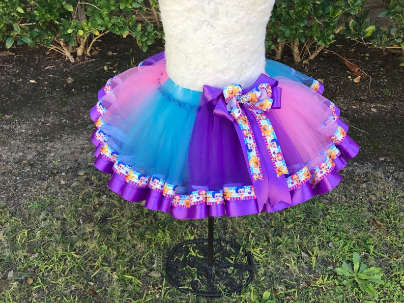 Bubble Guppies  Sewn Ribbon Trimmed TuTu ~~~Optional Matching Over The Top Hair Bow Available~~
