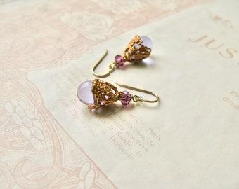 Meadow / Julia earrings in lilac