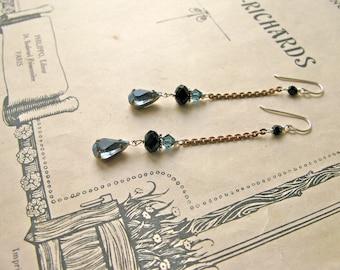 Mitzi Smoky earrings