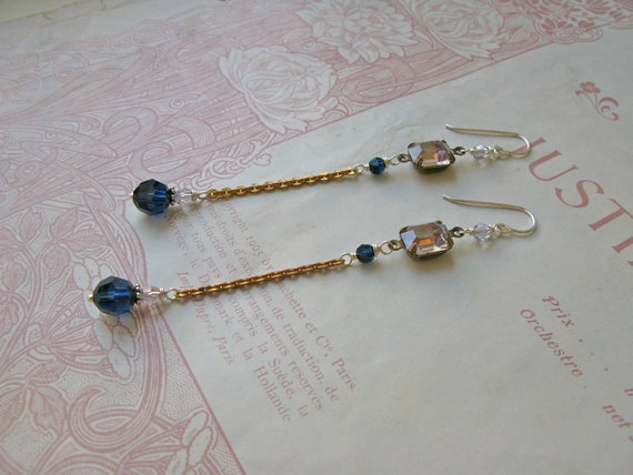 Mitzi Indigo earrings...