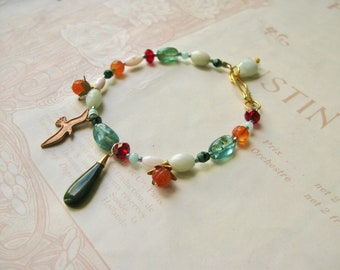 Meadow / Augusta beaded charm bracelet