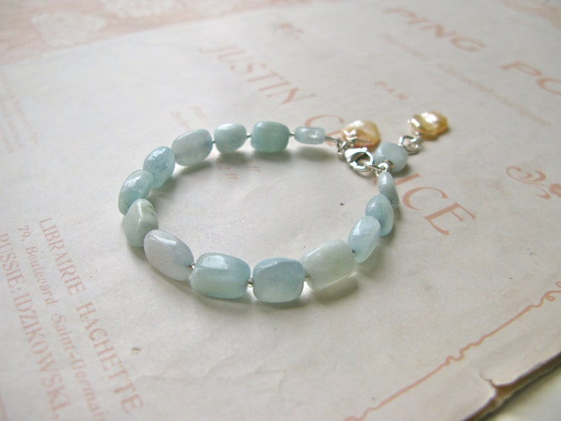 Women in Art / Aquarian Dream gemstone bracelet image 0