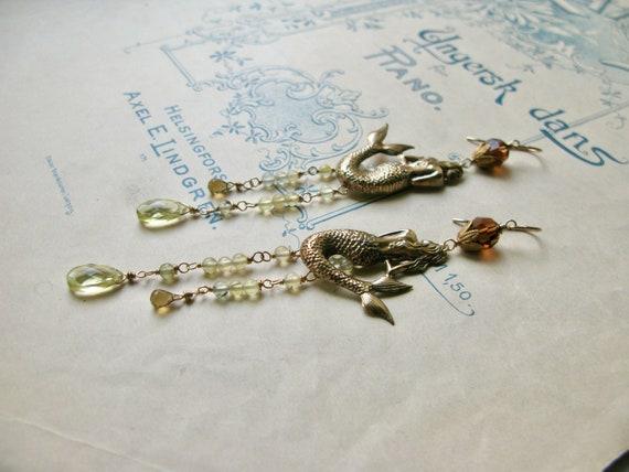 Meadow / Mermaid earrings...