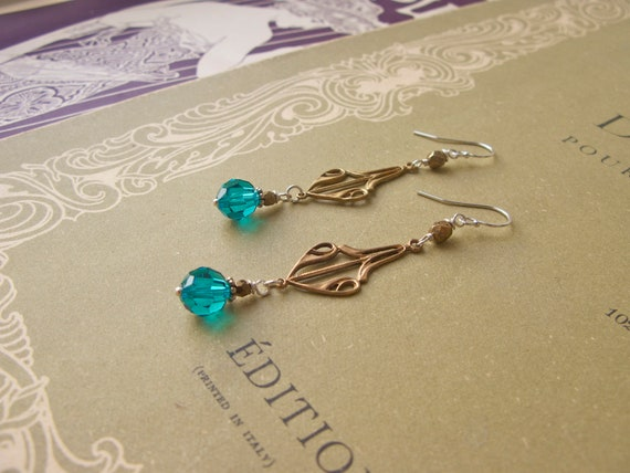 Emilienne earrings in blu...