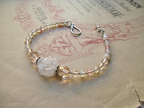 Blush Rose quartz bracele...
