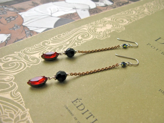 Mitzi Bordeaux earrings...