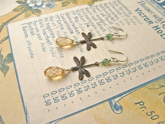 Garden earrings in golden...