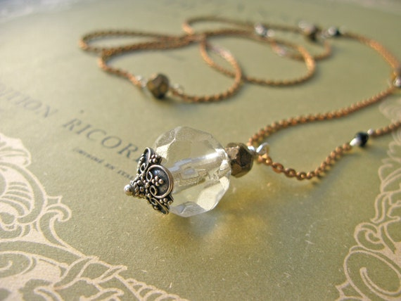 Muse crystal pendant with...
