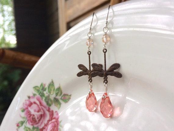 Garden earrings in rose p...