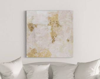 Large Canvas Art, Abstract Painting, Abstract Wall Art, White Painting, Gold Painting, Abstract Art Canvas