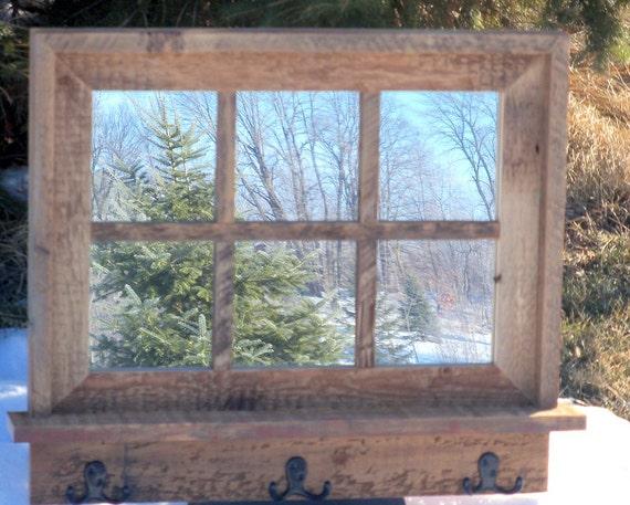 Custom Made Barnwood Framed Mirror With, 6 Pane Window Frame Mirror