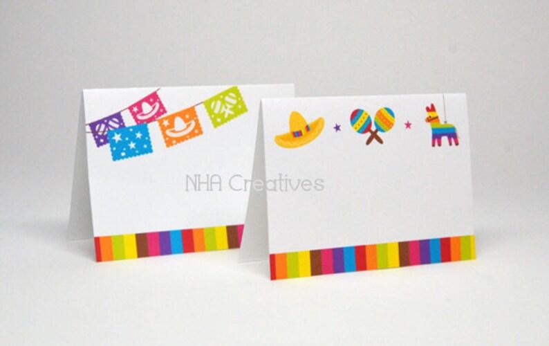 Maracas DIY Printable Digital File Pinata Fiesta Place Cards Sombrero Papel Picado