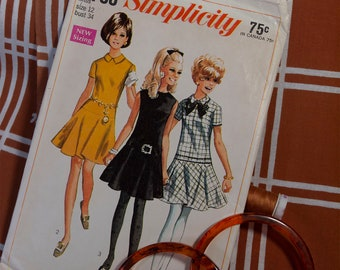 60's Misses Drop-Waisted Mini Dress, So Cute!!
