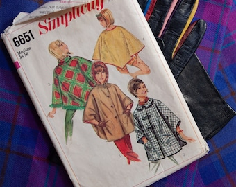 60's Simplicity 6651 Ponchos in Four Styles