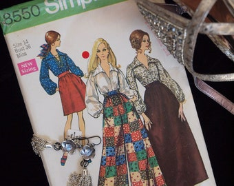 60's Simplicity 8550 Truly Mod Skirts, Pants, and Blouse