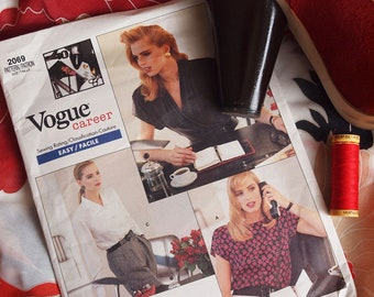 80's Vogue Career Blouse Pattern by Anne Klein