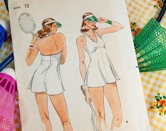 70's Butterick 5424 Knit Tennis Dress with Matching Shorts