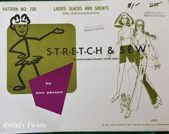 60's Stretch and Sew Simple Slacks and Pants
