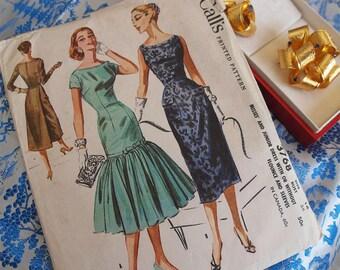 50's McCall's Dress Madmen Siren Form Fitting Style