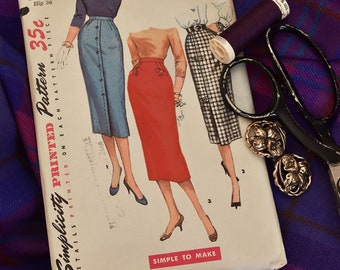 60's Simplicity 1690 Cigarette Skirts