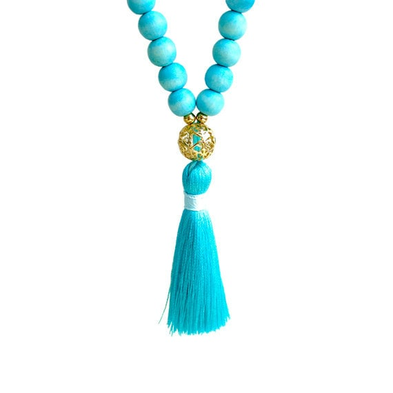 Tassel Long Necklace - Mint
