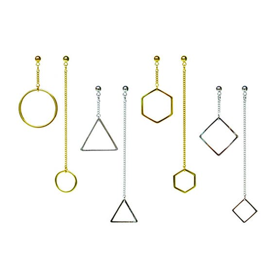 Geometric Twin Earring