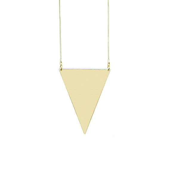 Triangle Pendant Necklace - Gold